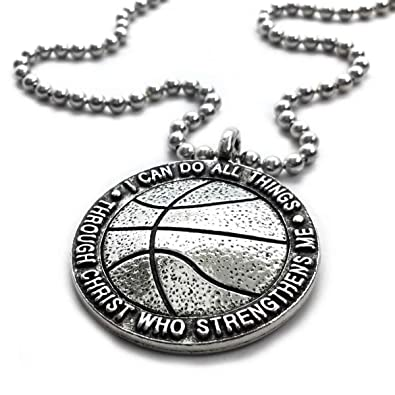 Forgiven Jewelry Basketball Necklace I Can Do All Things Through Christ