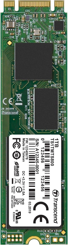 Transcend 1TB SATA III 6Gb/s MTS800 80 mm M.2 SSD (TS1TMTS800)