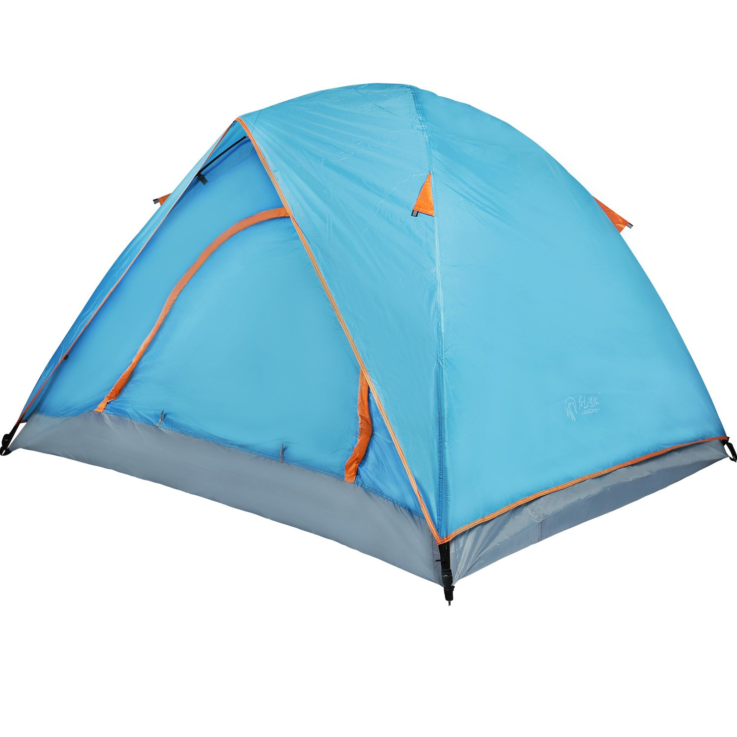 REDCAMP 2 Person Camping Tent Waterptoof, 3 Season Lightweight Dome Tent with Double Layers for Outdoor Backpacking, Blue by REDCAMP