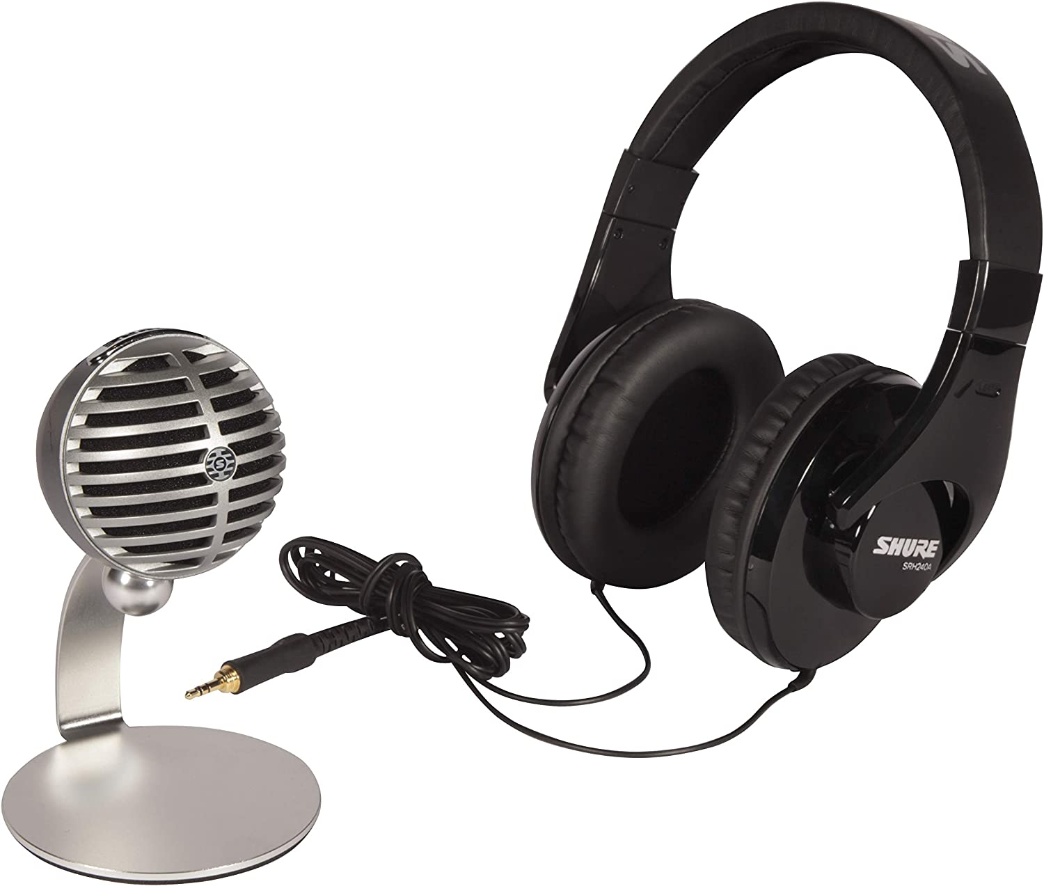 Shure Mobile Recording Kit with SRH240A Headphones and MV5 Microphone including Lightning and USB Cables