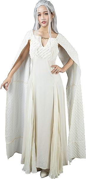 CosFantasy Daenerys Targaryen - Disfraz de Gasa para Cosplay ...