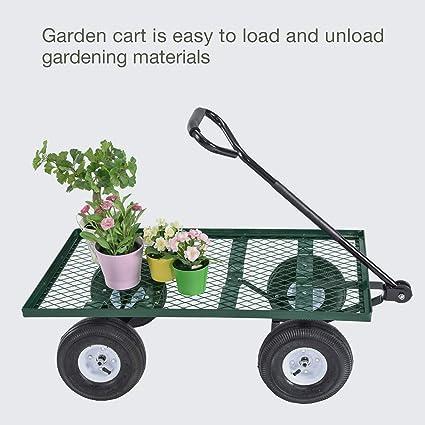 Amazon.com  NEW Lawn Yard Utility Garden Wagon Heavy Duty