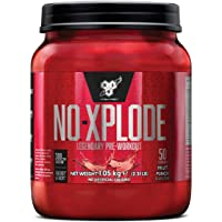 BSN N.O.-Xplode Pre Workout Powder with Creatine Monohydrate, Beta Alanine, Caffeine, Vitamin D & Vitamin B Complex by BSN - Fruit Punch, 50 Servings, 1kg