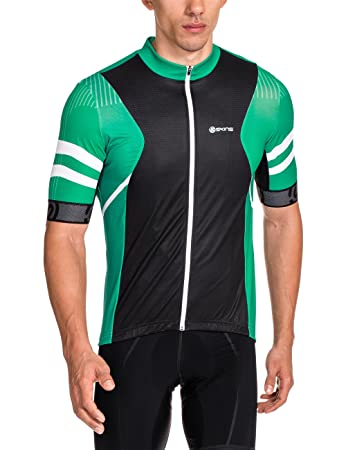Skins Herren Jersey Cycle Mens Emerald Short Sleeve Gottardo  Amazon ... 5bae90f52