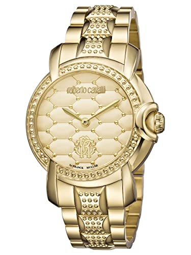 Amazon.com  Roberto Cavalli by Frank Muller QUILTED IP Gold Womens ... 9dbccae8e81
