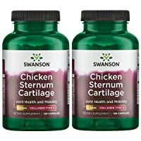 Swanson Chicken Sternum Cartilage Collagen Type Ii 500 Milligrams 120 Capsules 2 Pack