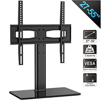 FITUEYES Universal TV Stand/ Base Tabletop TV Stand With Mount For Up To 55  Inch