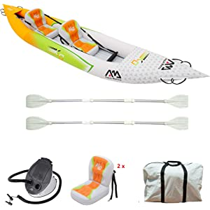 Aqua Marina Inflatable Kayak HM-KO with Super Accessory Pack: Double-edged Paddle
