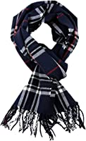 SethRoberts-Classic Cashmere Feel Men's Winter Scarf in Rich Plaids