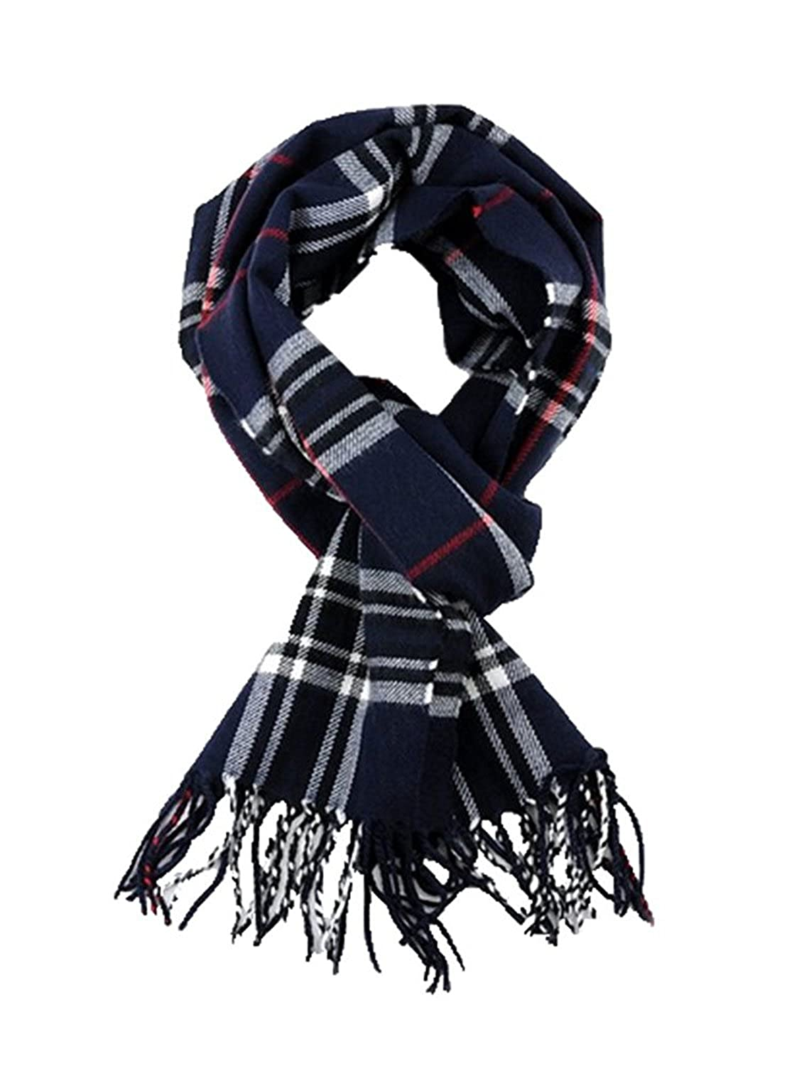 51a7b77426825 SethRoberts-Classic Cashmere Feel Men's Winter Scarf in Rich Plaids (NAVY)  at Amazon Women's Clothing store: Fashion Scarves
