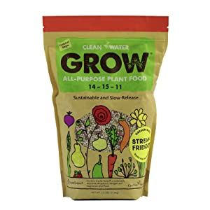 Clean Water Grow All-Purpose Plant Food 2.5 lb. Slow Release Natural Environmentally Friendly Fertilizer 14-15-11 NPK High Nutrient Content