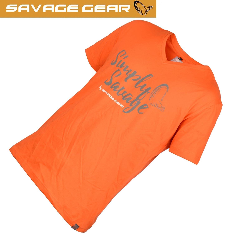 Savage Gear Simply Savage Tee Grey Shirt für Angler Angel T-Shirt Angelshirt