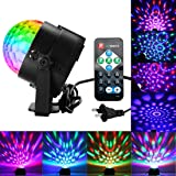 Disco Ball Lights, Party Lights Sound Activated Party Lights with Remote Control DJ Lighting, 3W Disco Ball, Strobe Lights 7 Modes Stage Par Light for Wedding show, Club, Party, Holiday