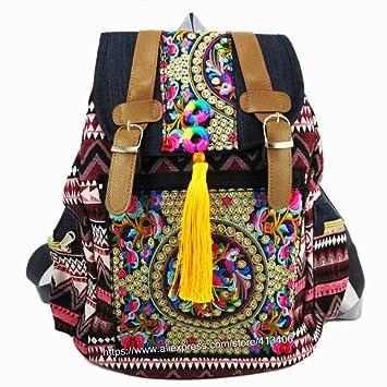 KHDJH Mochila Tribal Vintage Hippie Ethnic Bag Mochila Mochila ...