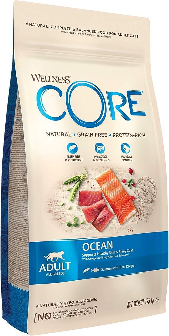 Wellness CORE Alimento seco para Gatos sin Granos, salmón océano y atún, 1,75 kg