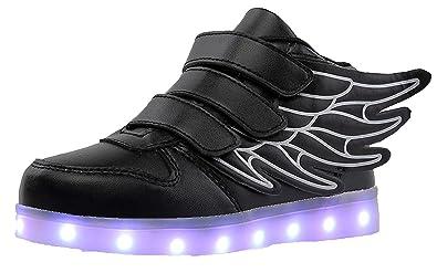 Haut-dessus LED Chaussures Enfants USB Charge LED Lumineux Chaussures de Sports Baskets Chaussures Garçon Fille/Homme Femme C5zGzp