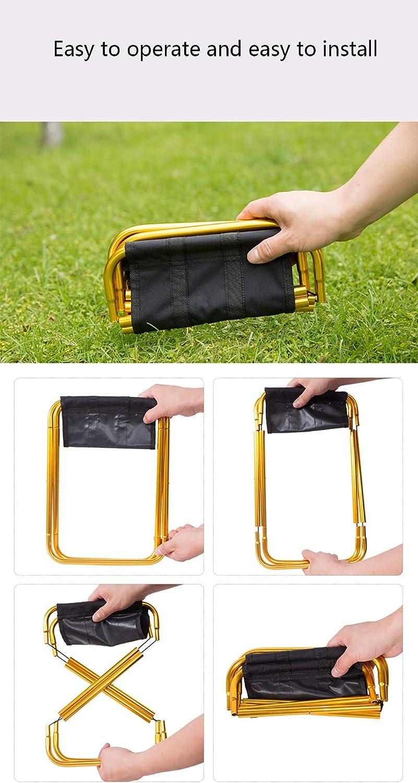 Outdoor Fold Up Asolym Mini Portable Folding Stool Lightweight Camp Aluminium Stools Seat for Camping,Camping,BBQ,Fishing,Hiking,Beach,Garden,Blue