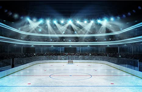 15x10 Ft Photography Backdrop Hockey Stadium With Spectators Empty Ice Rink Sport Arena Photo Studio Background Seamless Amazon Ca Camera Photo