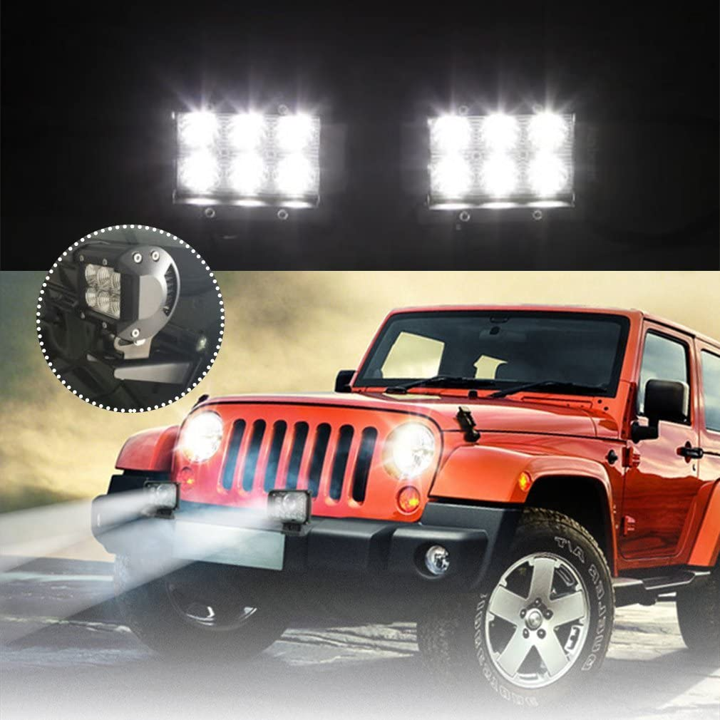 Tractor Offroad Vehicles SUV Truck Car LED Spotlights Auxiliary Lights Additional Headlights IP67 Waterproof Reversing Lights Hengda 10 x 18W LED Work Lights 12V Headlights for Car