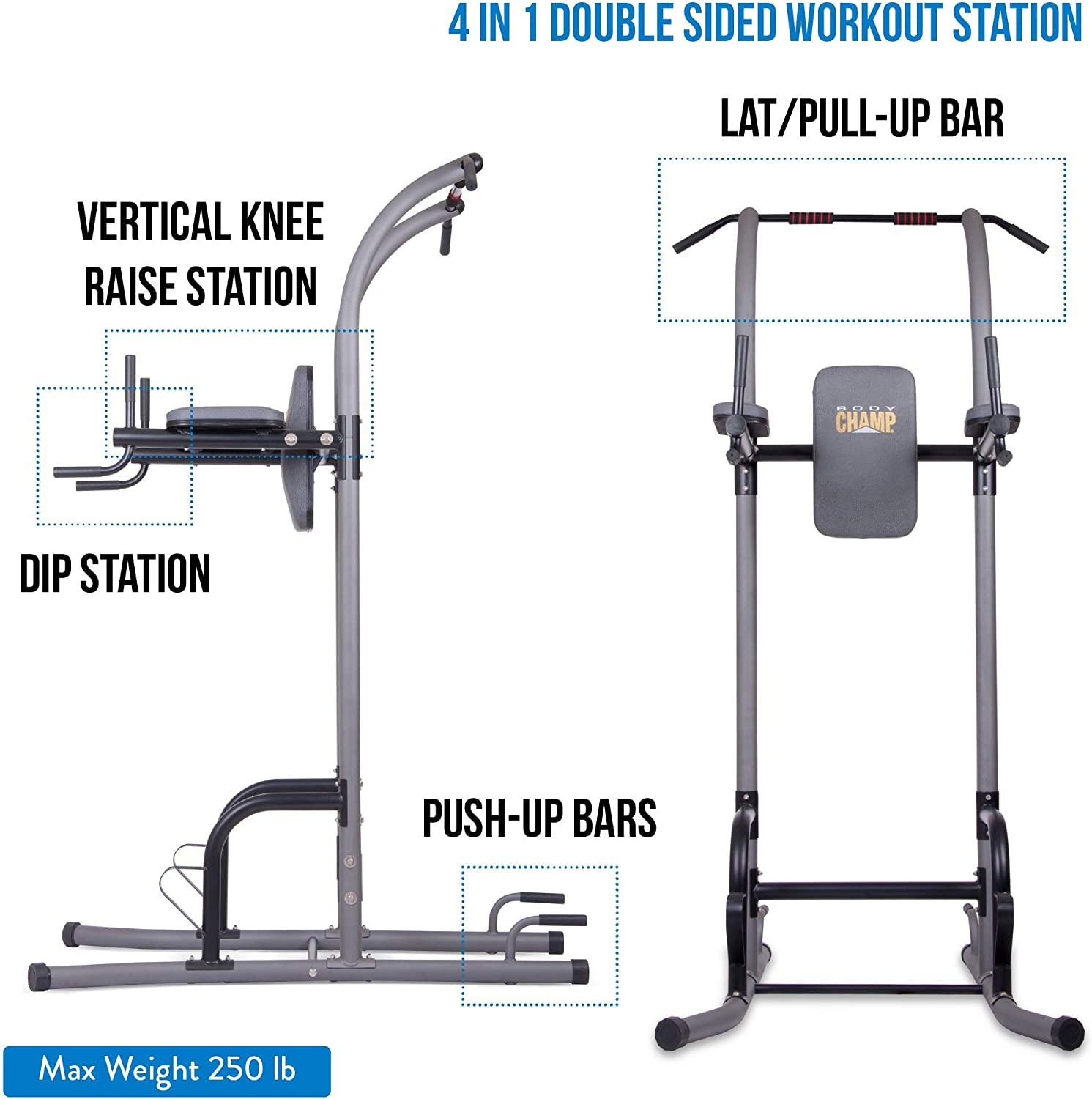 best power towers with pull-up dip station