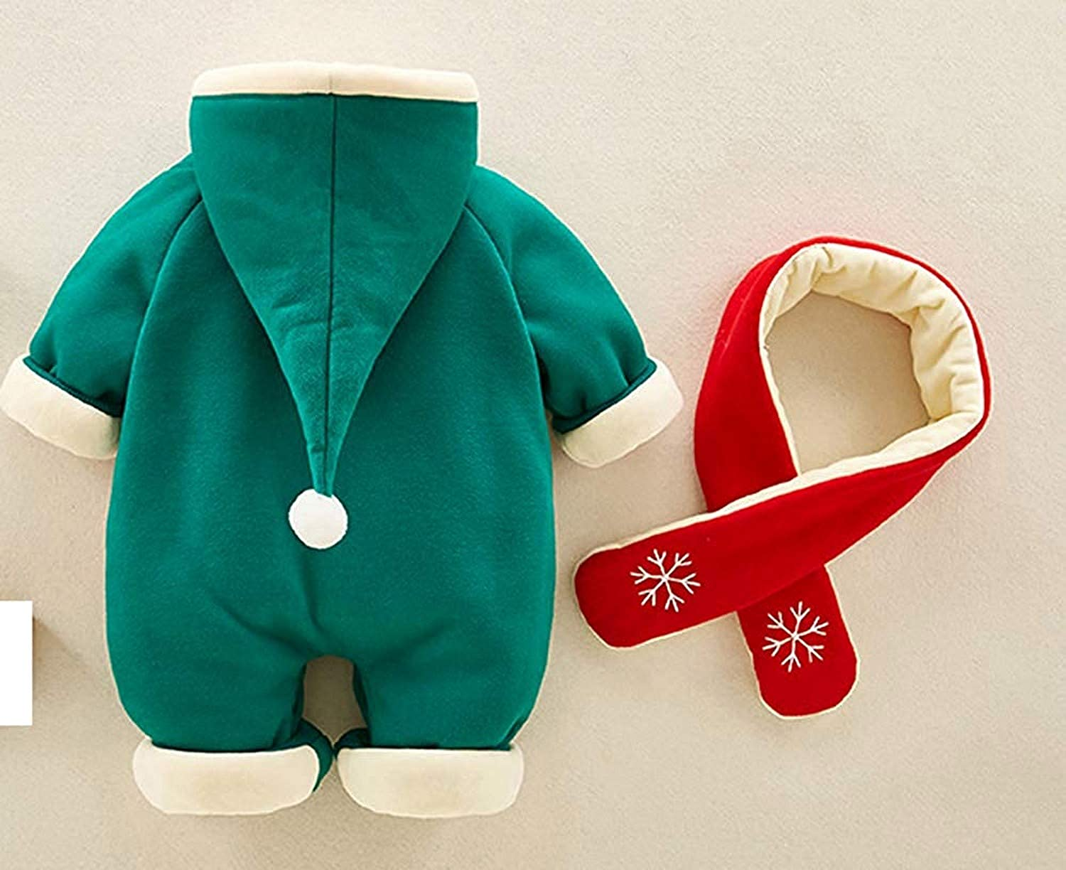 Carlos Foushee Infant Baby Boy Girl Winter Christmas Thick Outwear Romper Warm Fleece Jumpsuit