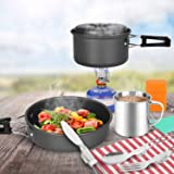 Odoland 10 pcs Camping Cookware Mess