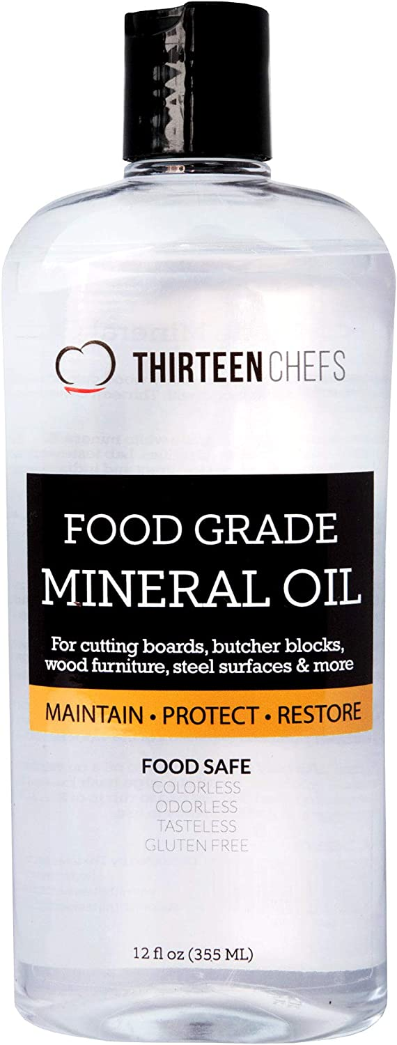 Food Grade Mineral Oil for Cutting Boards, Countertops and Butcher Blocks, Food Safe and Made in The US 128oz, 1 Gallon