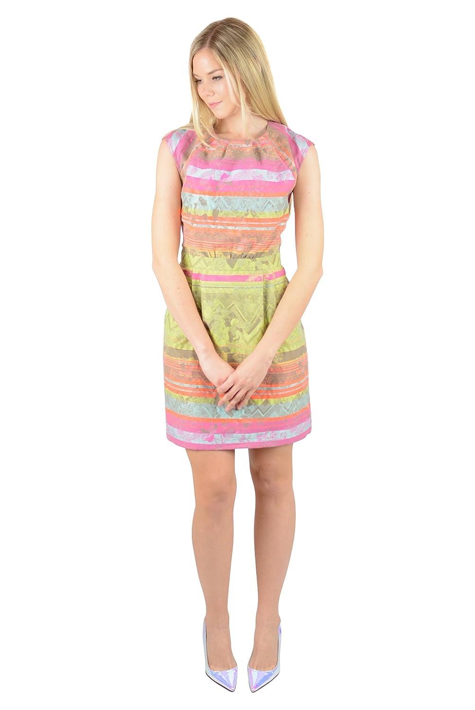 Twelfth Street by Cynthia Vincent Womens Multi Cutout Knit SS Dress 8