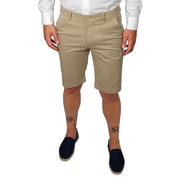 b991c41c4141d6 Bermuda Uomo Cotone Leggero Pantaloncini Eleganti Beige Slim Estivi Shorts  Pantaloni Corti Chino Cargo Jeans: Amazon.it: Abbigliamento