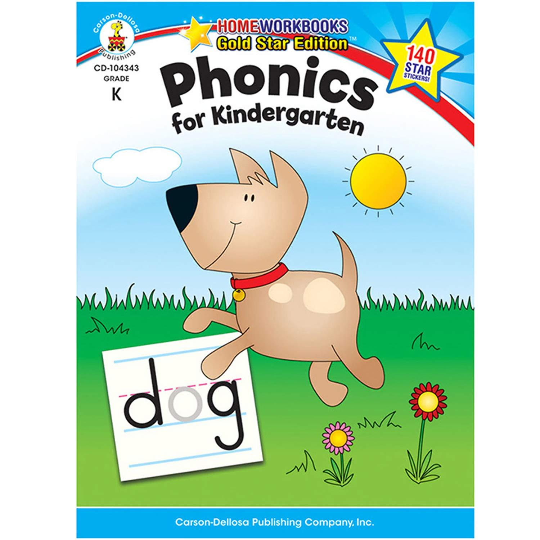 Phonics For Kindergarten Grade K Home Workbook Carson Dellosa Publishing 0044222204501 Amazon Com Books