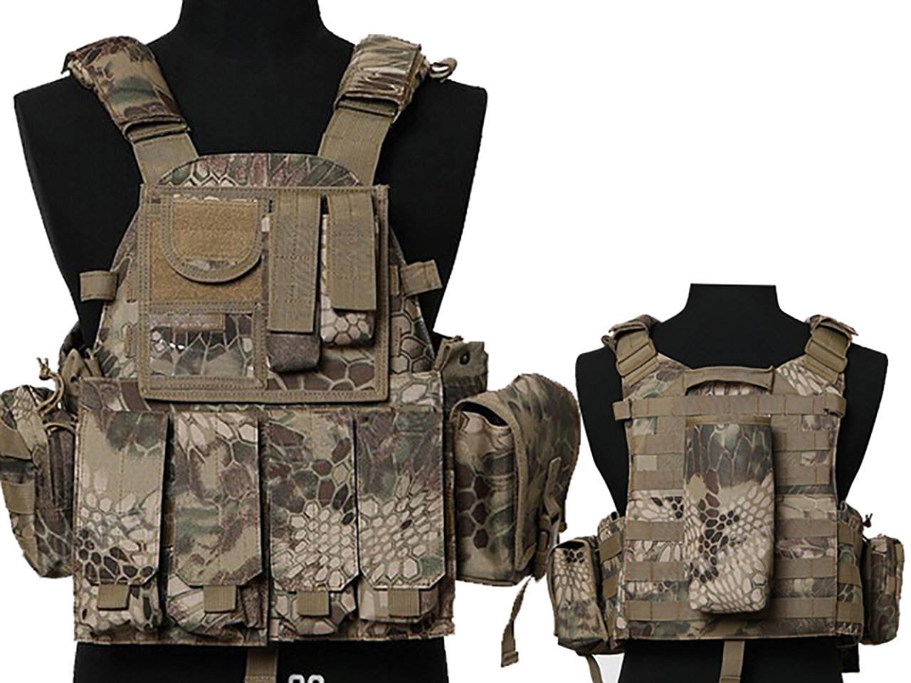 Tactical Multi Attack Molle Combat Vest Magazine Pouch Airsoft Paintball Military HLD by MDG