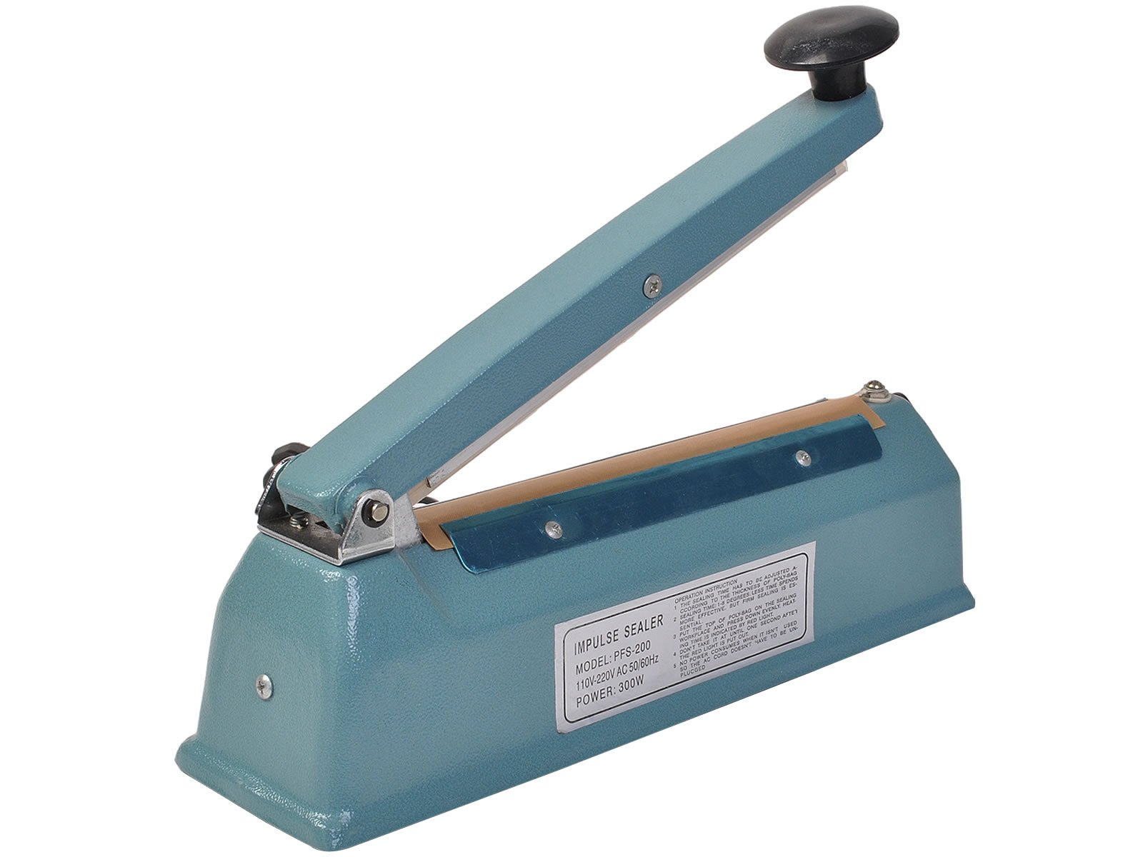 Safstar 8''/12'' Manual Impulse Heat Sealer Plastic Poly Bag Closer Machine (8 inch)