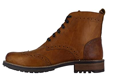 a9574c5a Catesby Mens Smart Formal Lace Up Chunky Wing Tip Brogue Boots UK 9 ...