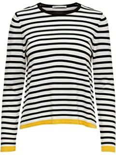Only Onliza L//S Wide Neck Pullover Knt su/éter para Mujer