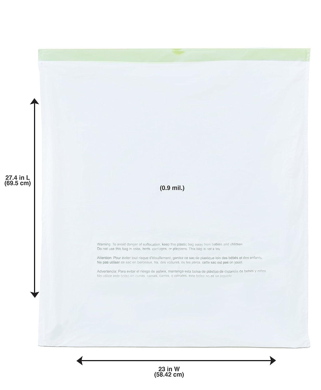 NINESTARS NSTB-10-30 Extra Strong White Trash Bag w/Drawstring Closure, 10 Gal. / 40 L., 30 count