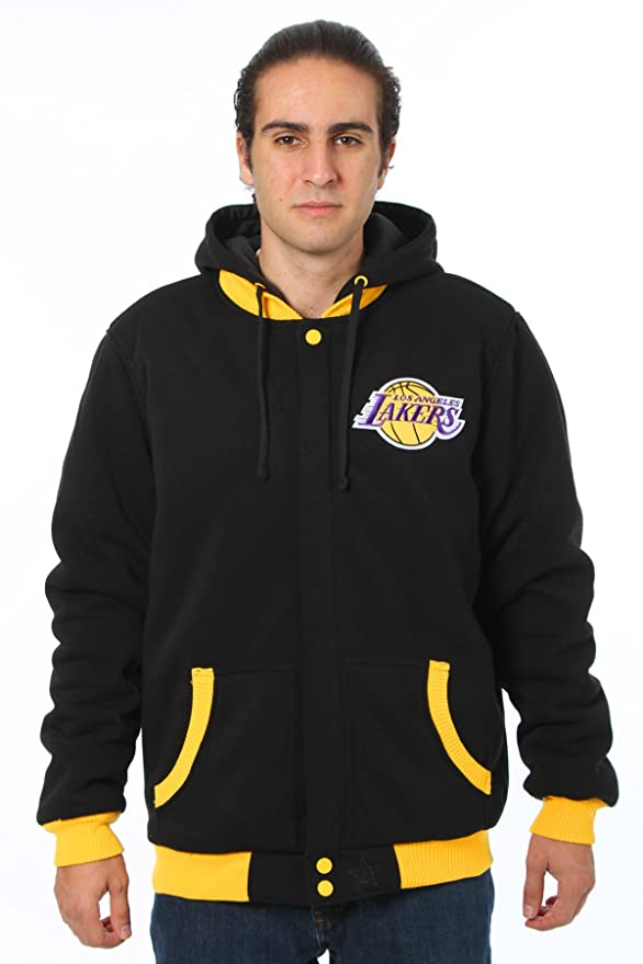 J.H. Design Los Angeles Lakers Chaqueta Forro Polar y Nailon ...