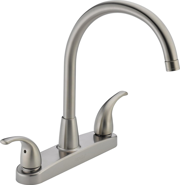 Peerless Tunbridge 2-Handle Kitchen Sink Faucet, Stainless P299568LF-SS