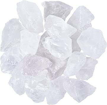 Polishing Unihom 1 lb Bulk Rough Clear Quartz Crystal for Tumbling Wrapping Large 1 Natural Raw Stones 1 Pound Healing Crystals Cabbing Decoration