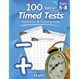 Humble Math - 100 Days of Timed Tests: Addition and Subtraction: Grades K-2, Math Drills, Digits 0-20, Reproducible Practice