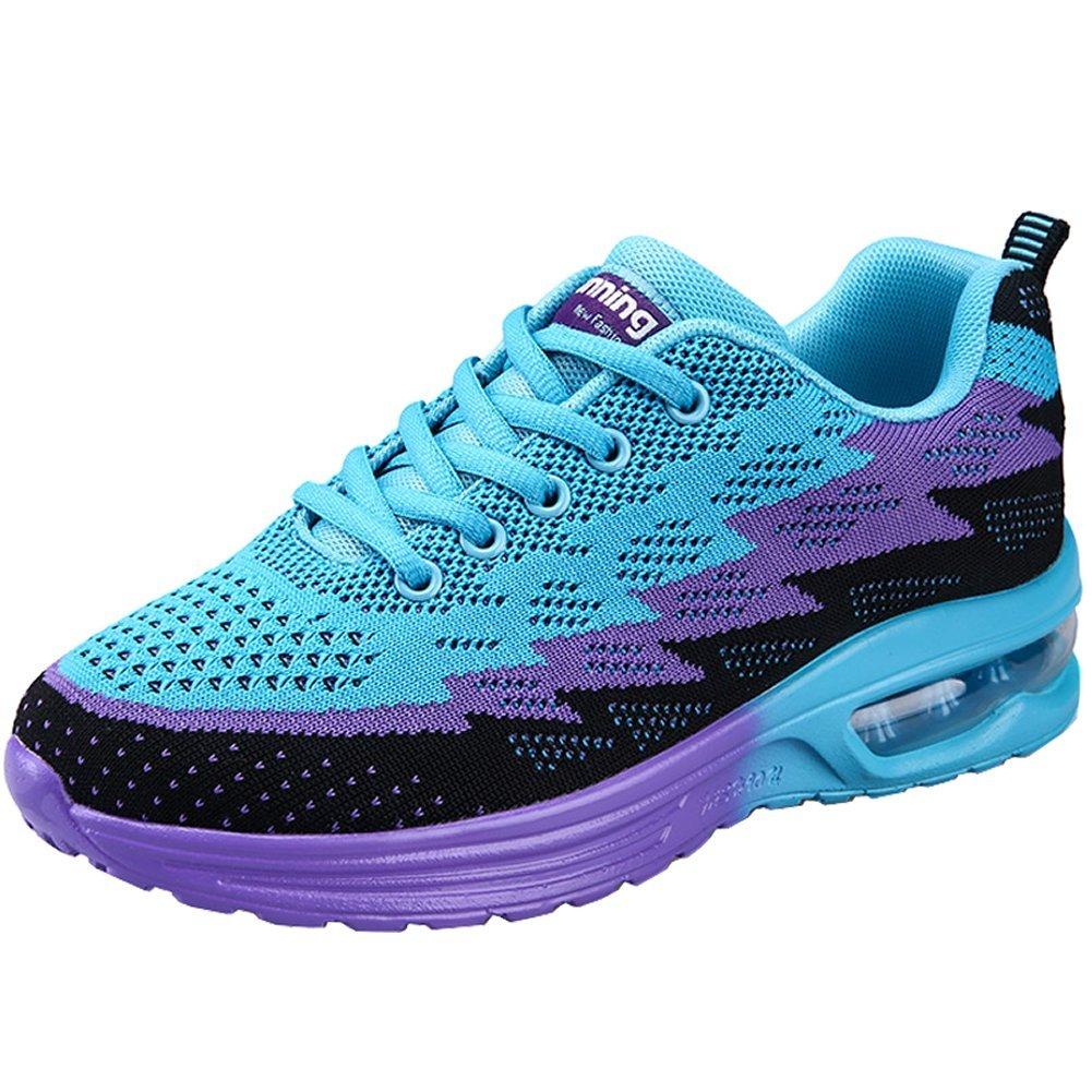 JARLIF Women's Lightweight Jogging Training Running Shoes Athletic Walking Tennis Sneakers (8.5 M US Women, Blue)