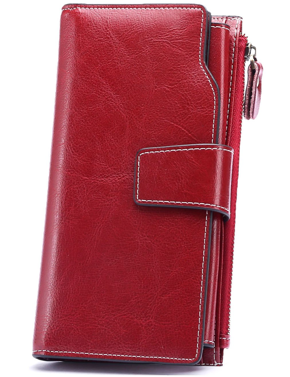Womens Leather Wallet RFID Large Organizer Clutch Wallet Card Holder Lady Purse