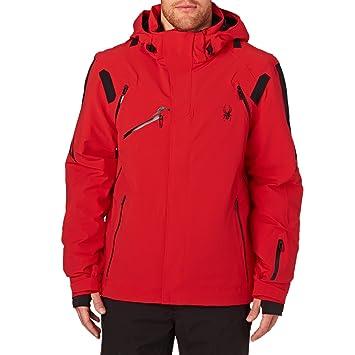 70cb2b4bfef6 Spyder Garmisch Mens Insulated Ski Jacket - Medium Red-Black-Black   Amazon.ca  Sports   Outdoors