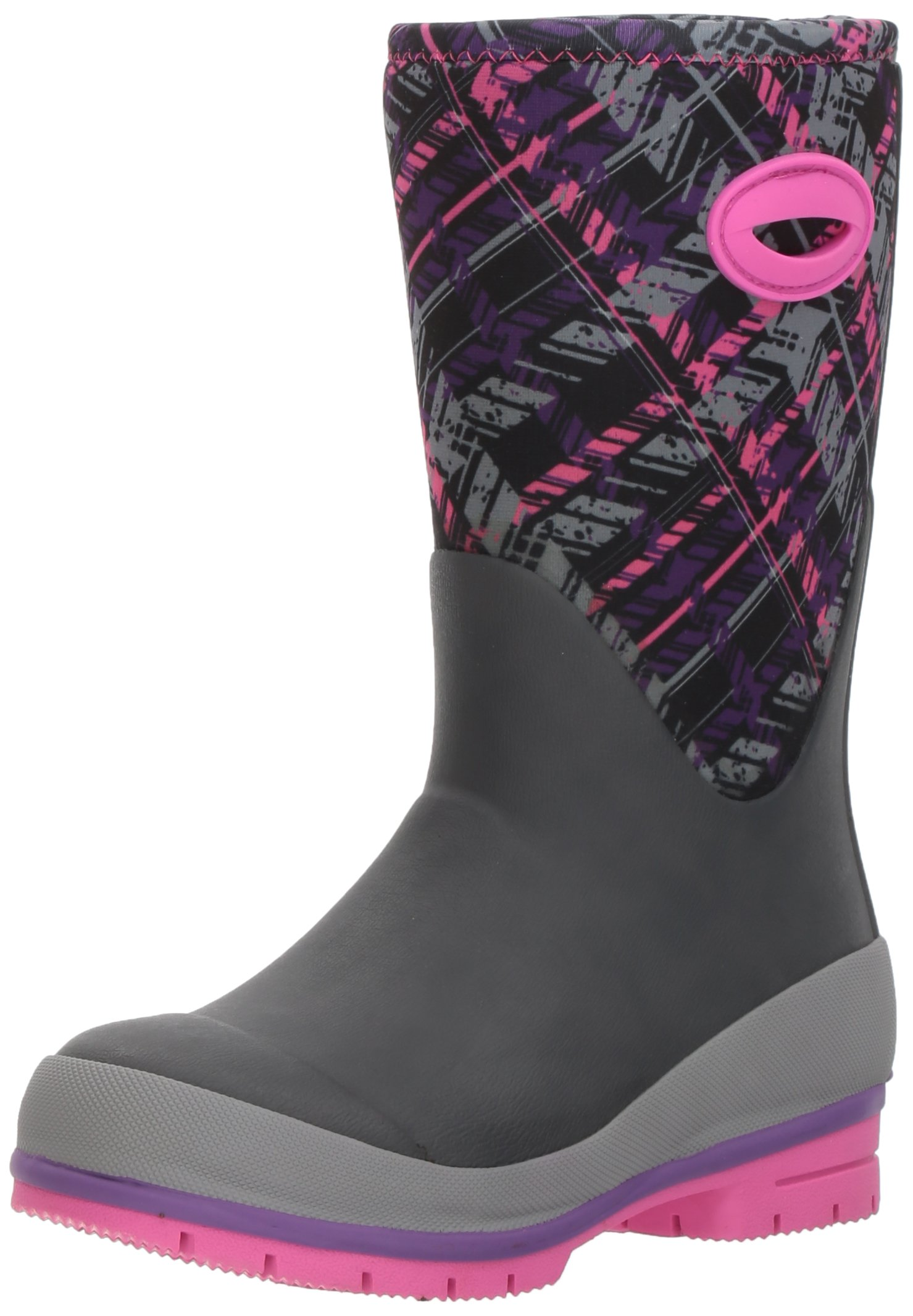 Western Chief Cold Rated Neoprene Boot with Memory Foam Snow, Rad Plaid 1 M US Little Kid