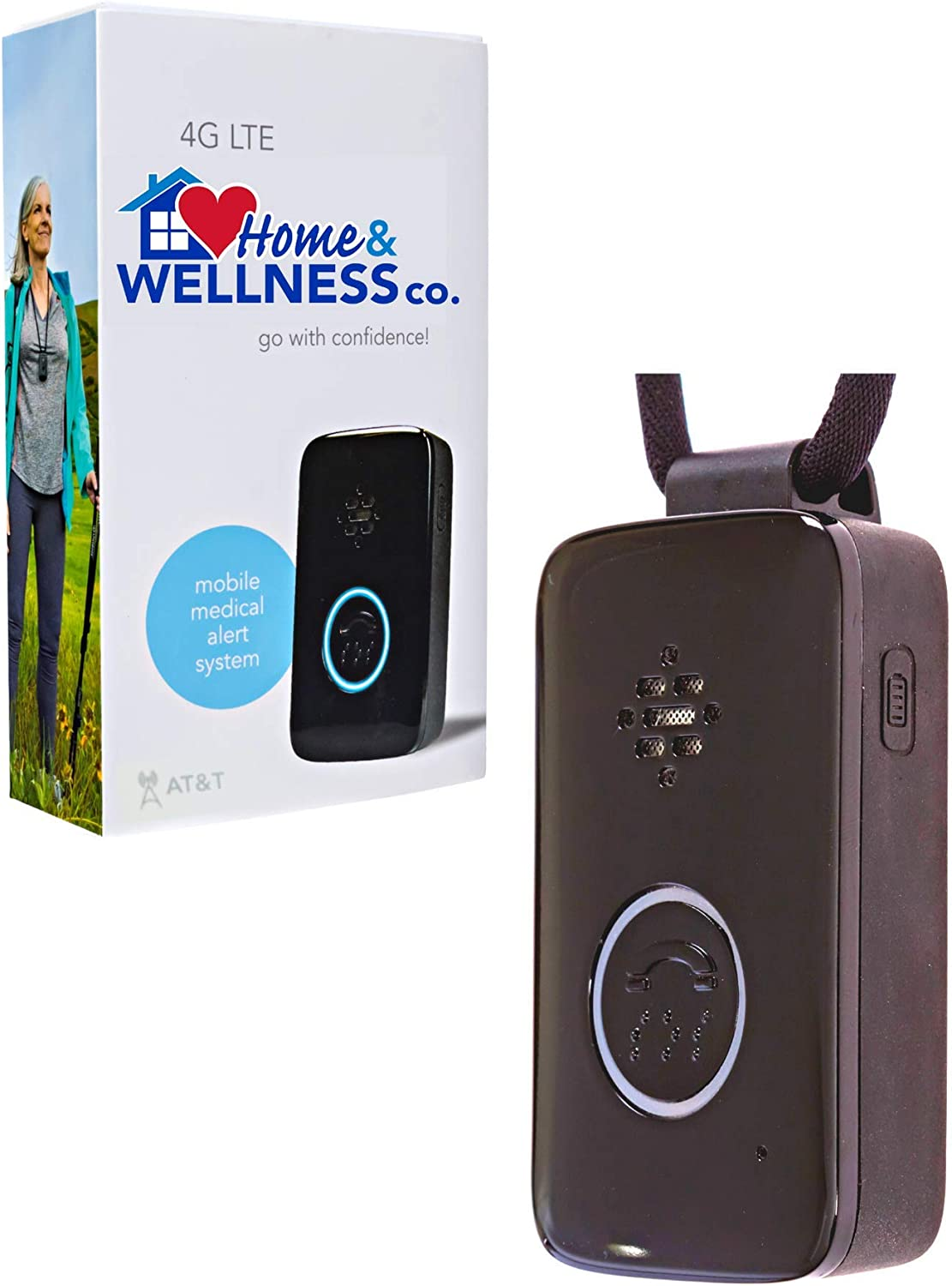 Home&Wellness GPS Medical Alert Device, No Fall Detection, 4 Months Service Included.