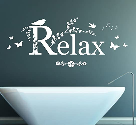 Relax Quote, Vinyl Wall Art Sticker, Mural, Decal. Home, Wall Decor