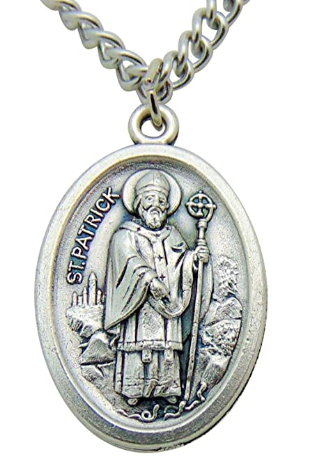St patrickst bridget medal gift 34 inch metal pendant with st patrickst bridget medal gift 34 inch metal pendant with stainless steel aloadofball Gallery