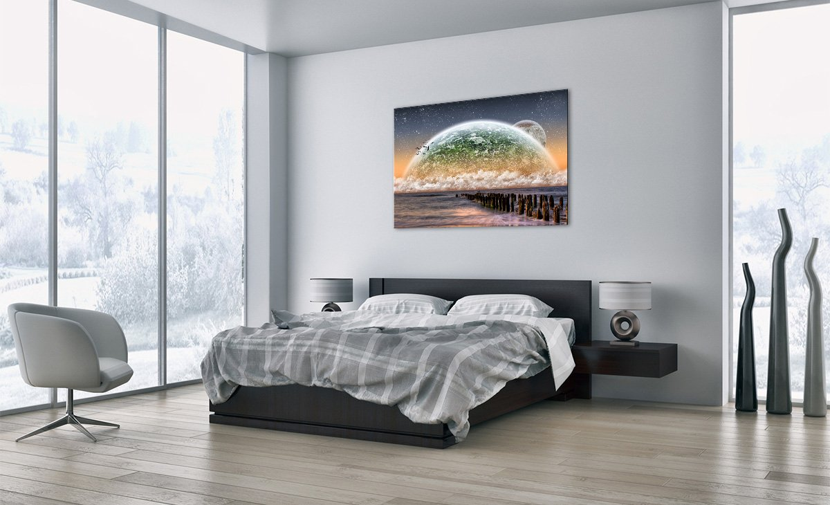 Glass Picture wall art print Picture on glass Glass Print Image printed on glass 27,6x19,7 Art print Images 70x50cm GAA70x50-0353 1 part Ready to Hang - 0353
