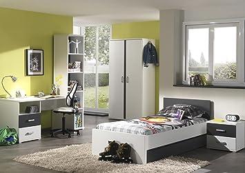 Dormitorio juvenil Juego tilo 6 piezas en color blanco de ...