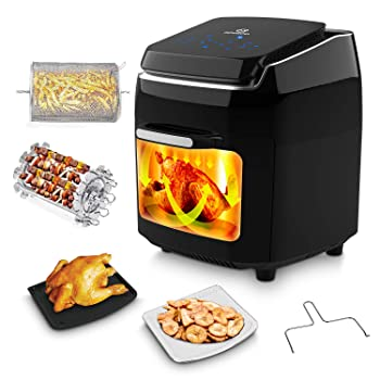 MOOSOO 8-in-1 Air Fryer Toaster Oven