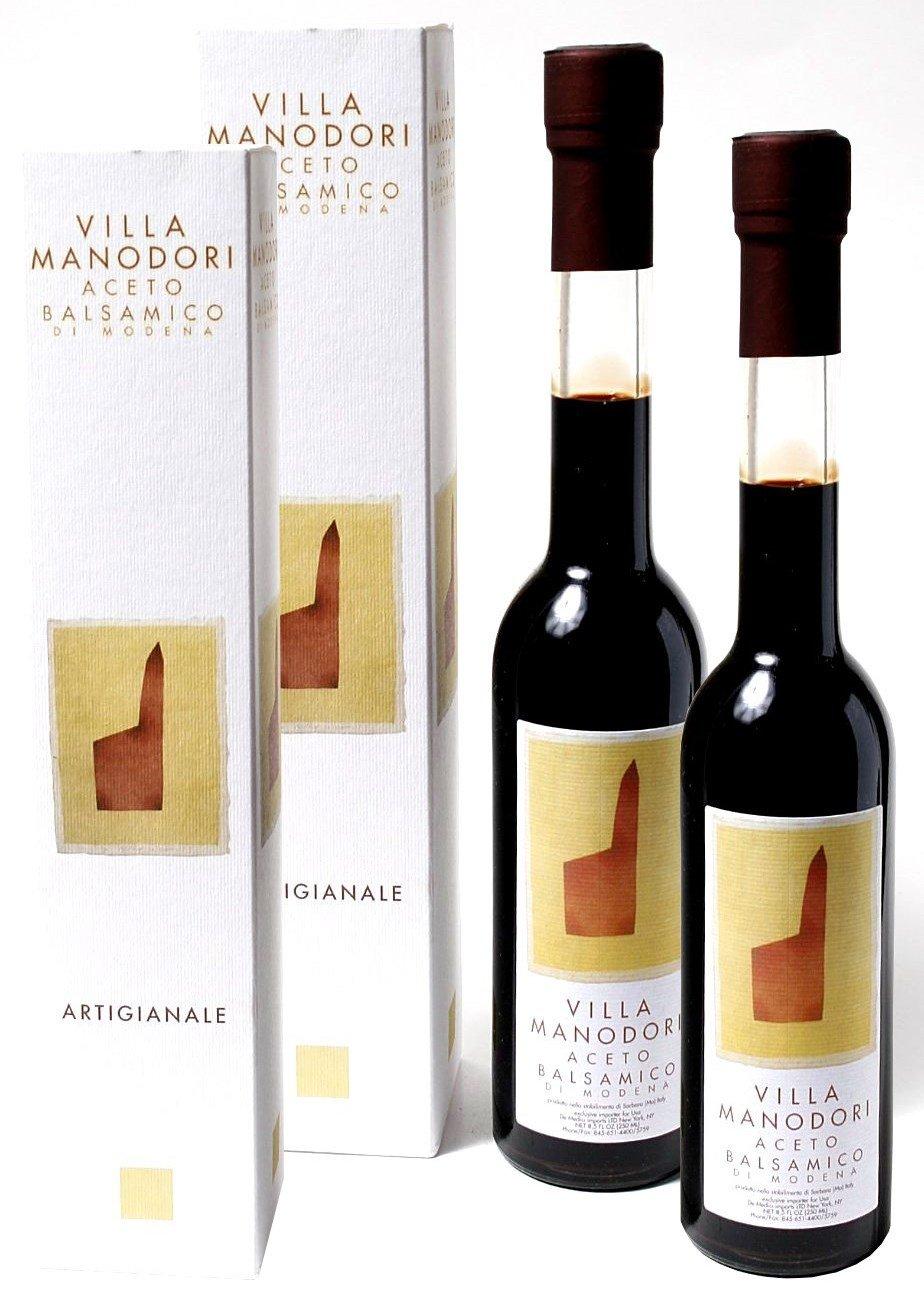 Villa Manodori Balsamic Vinegar, 2 Bottles (8.5 Fl Oz) by Villa Manodori